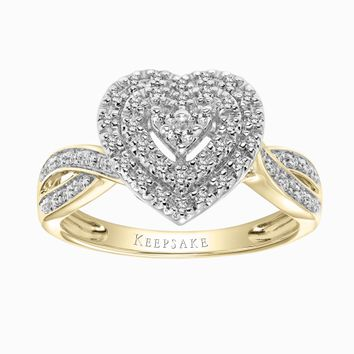 Keepsake Valentine Limited Edition 2018 1/3 Carat T.W. Certified Diamond 10kt Yellow Gold Ring - Walmart.com