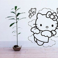 Hello Kitty Clouds Sky Wall Art Sticker Decal M40