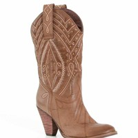 Volatile Shoes Zala Tall Western Cowboy Boots in Light Brown ZALA-LT BRN