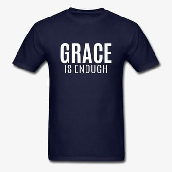 Grace Is Enough | Christian | Faith | Religious T-Shirt | Christian Life Apparel