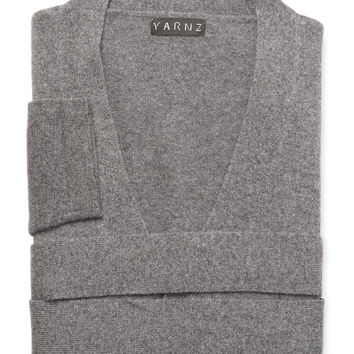 Yarnz Cashmere Knit Robe - Dark Grey