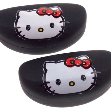 Hello Kitty Eye Sun Glasses Hard Case White & Black Lot 2 Licensed Kids NEW