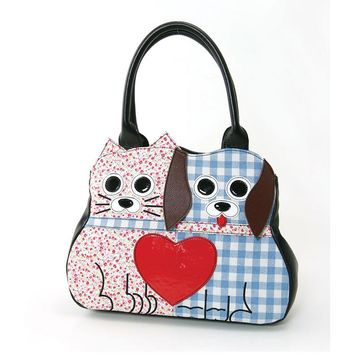 Like Cats and Dogs Purse HandBag