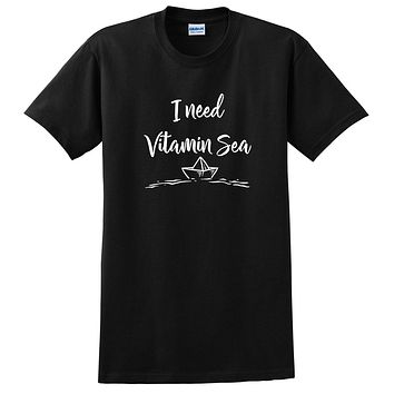 Funny vacation I need vitamin sea gift for coworker funny vacay T Shirt