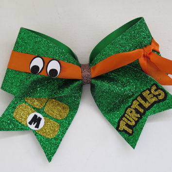 2 1/4 inch Teenage Mutant Ninja Turtle bow