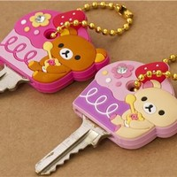 Rilakkuma bear key cover charm cupcakes - Cellphone Accessories - Accessories