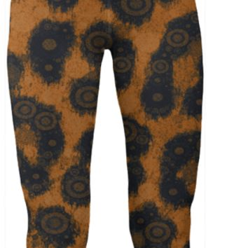 Cheetah Print Abstract Yoga Pants