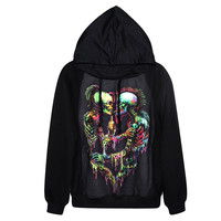 Hot Sale Harajuku Women Hoodies 3d Skull Skeleton Printed Women Clothing Casual Sportswear Sweatshirts Fashion Rock Blouse Tops