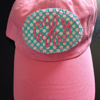 Monogrammed Baseball Cap-Raggy Patch