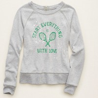 AERIE ZIP BACK SWEATSHIRT