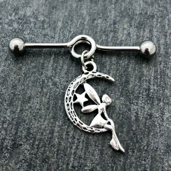 14 gauge Fairy Industrial barbell/scaffold body jewelry .....Available Barbell sizes 32mm, 35mm, 38mm