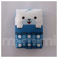 Polar Bear in Sleeping Bag Pillow, Bear Pillow, Stuffed Animal, Kids Cushion, Kawaii Animal, Baby Shower, Kids Room Decor, 9 x 6""
