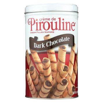 De Beukelaer Cookies - Pirouline Creme Filled Rolled Wafers - Case Of 6 - 14.1 Oz.