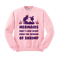 Mermaids Don't Lose Sleep Crewneck Sweatshirt