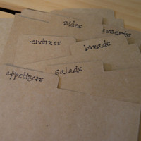 Classic Cards. 8 extra recipe card dividers.