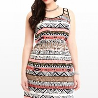 Plus Size Sienna Aztec Print Dress | Fashion To Figure