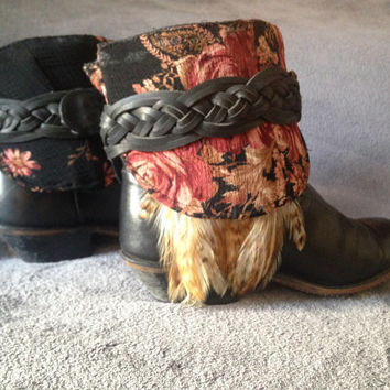 Size 8, Upcycled, Southwestern, Bohemian, Gypsy, Cowgirl, Layer Boots
