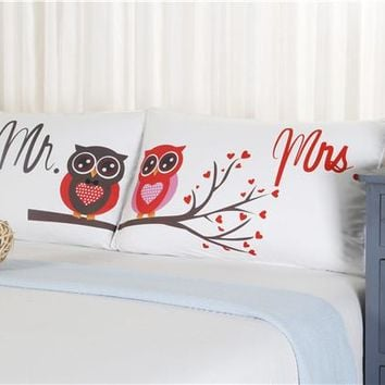 2 Pieces Mr Right & Mrs Always Right Pillowcases