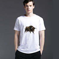 Strong Character Casual Men's Fashion Creative Pattern Tee Summer Short Sleeve Cotton T-shirts = 6450116163