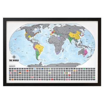 Travel Tracker Map™ Platinum - XL Special Edition Map - Scratch off where you've been!