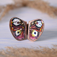 Copper handmade ring butterfly author's women's accessories designer's fine gift