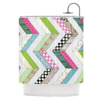 "Heidi Jennings ""Fabric Much?"" Colored Cloth Shower Curtain"
