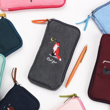 Tailorbird half zip around slim multi pouch