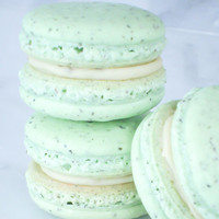 Cookie Wedding Favors French Macaron Cookies 12 Green Tea Macaroons Gift Splendid Sweet