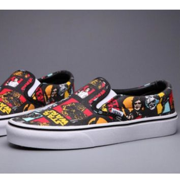 Vans Star Wars bands and lazy people Print Sneakers Convas Casual Shoes I-FEU-SY