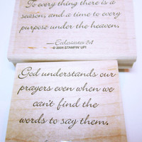 Rubber Stamp, Religious Quote Stamps, Unused Stampin' Up Rubber Stamp, Card  Making, Scrapbooking, Rubber Stamp Supplies
