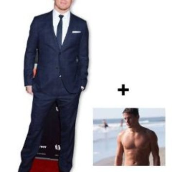 *FAN PACK* - Channing Tatum LIFESIZE CARDBOARD CUTOUT (STANDEE / STANDUP) - INCLUDES 8X10 (25X20CM) STAR PHOTO - FAN PACK #278