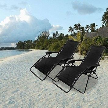 Infinity Zero Gravity Chair Caravan Sports Oversized Outdoor Patio Black Set  2