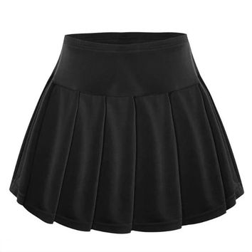 Women Tennis Skirt all-match Anti Sport Badminton Skirt Pleated Skirts Black White