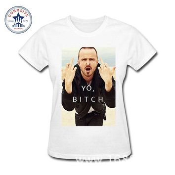 2017 Various Colors Funny Cotton Jesse Pinkman Breaking Bad T Shirt for women
