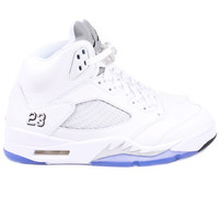 "Air Jordan 5 Retro ""Metallic Silver"" (White/Black-Metallic Silver)"
