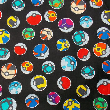 Pokeball Fabric Pokemon Go Remnant Master Ball Pokemon Craft Fabric Pillow Fabric Apparel Fabric