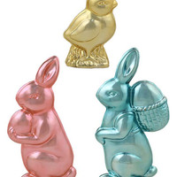 Metallic Easter Candy Sculpture Set