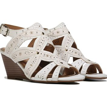 XOXO Shani Wedge Sandal White