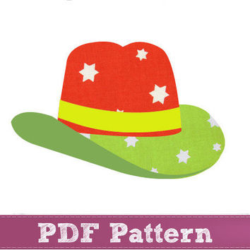 Boy applique patterns - Cowboy hat applique template PDF