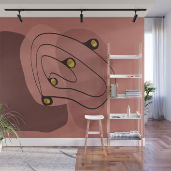 Modern minimal forms 28 Wall Mural by naturalcolors