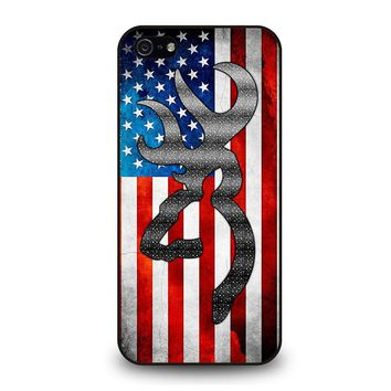 BROWNING CAMO AMERICAN FLAG iPhone 5 / 5S / SE Case