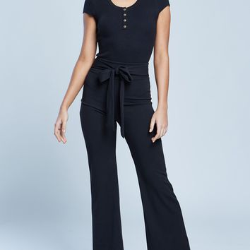 Self-Tie Belted High Rise Elasticized Size Dress Pants