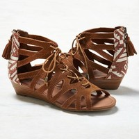 MINNETONKA MERIDA GLADIATOR WEDGE SANDAL