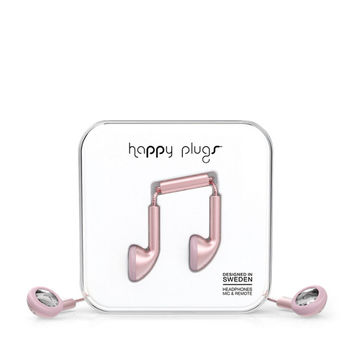 Happy Plugs Earphones - Pink Gold