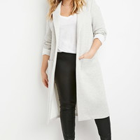Plus Size Heathered Longline Jacket