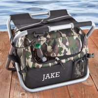 eluxe Camouflage Sit n' Sip Cooler Seat - Personalized Camouflage Cooler - Cooler Chair - Personalized Cooler - Gifts for him