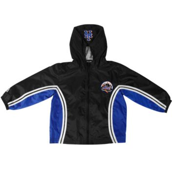 Majestic New York Mets Toddler Full Zip Hooded Jacket - Black/Royal Blue - http://www.shareasale.com/m-pr.cfm?merchantID=7124&userID=1042934&productID=555881377 / New York Mets