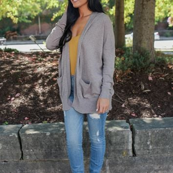 New Level Cardigan - Taupe