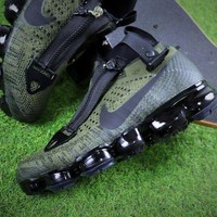 DCCKNQ2 Acronym x Nike Air VaporMax 2018 Zipper Army Green Sport Running Shoes