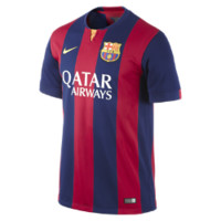 Nike 2014/15 FC Barcelona Stadium Home Men's Soccer Jersey